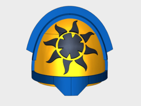 10x Solar Paladins  - G:12a Shoulders pads in Smooth Fine Detail Plastic