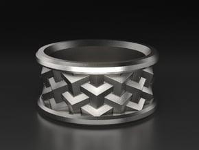 Interlocking Cubes in Antique Silver: 10 / 61.5