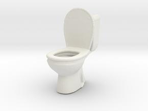 Toilet WC 1/24 in White Natural Versatile Plastic