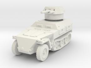 Sdkfz 250/9 B 2cm (closed) 1/120 in White Natural Versatile Plastic