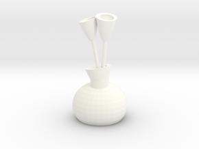 Vase Of Tulips in White Processed Versatile Plastic