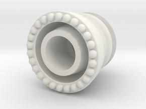 Mini Insulator in White Natural Versatile Plastic: Small