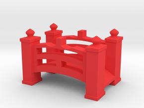 Cross The Bridge in Red Processed Versatile Plastic