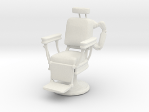 Printle Thing Barber Chair - 1/12  in White Natural Versatile Plastic
