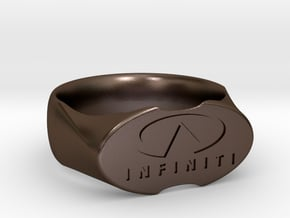 Infinity Ring  in Polished Bronze Steel