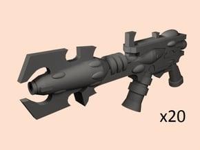 28mm Space Evil Elf shredguns in Smoothest Fine Detail Plastic