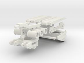 3-Achs Plattform Tieflader Zubehör in White Natural Versatile Plastic