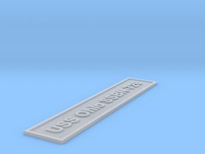 Nameplate USS Ohio SSBN-726 (5 inches) in Smoothest Fine Detail Plastic