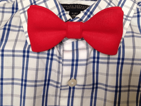 3D Printed Bow Tie in Red Processed Versatile Plastic