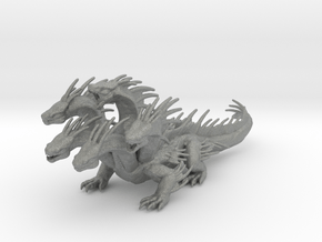 5 Headed Hydra 190mm miniature model games dnd rpg in Gray PA12