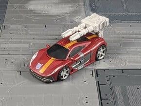 TF CW Dead End Slim Car Cannon in White Natural Versatile Plastic