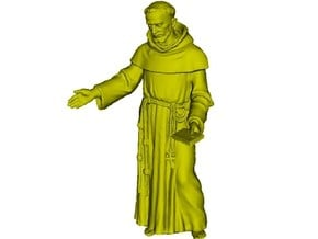 1/18 scale Catholic priest monk figure A in Smooth Fine Detail Plastic