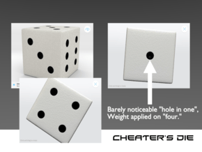 Loaded/Weighted/Rigged Die/Dice in Natural Full Color Sandstone: Small