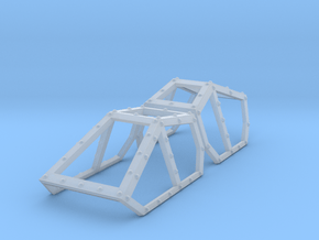 SciFi Hyldria aircraft canopy TEST 2 no glass in Smoothest Fine Detail Plastic