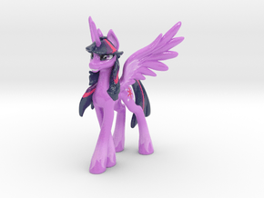 Twilight Sparkle (Classic, 16.5 cm / 6.5 in tall) in Glossy Full Color Sandstone