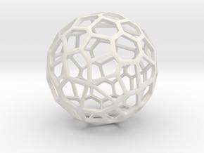 Voronoi Lamp - Generative design in White Natural Versatile Plastic: 1:10