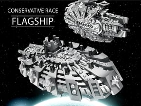 FLAGSHIP for Conservative Race in White Natural Versatile Plastic