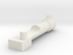 G1 style Megatron Back cannon in White Natural Versatile Plastic