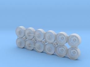 "(12) 520R46"" CAST CENTER/DUAL/TRIPLE RIMS W/ HUBS in Smooth Fine Detail Plastic"