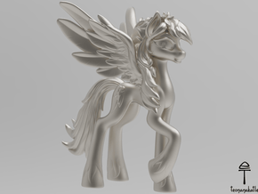 Rainbow Dash MLP (Au, Ag, Pt, Bronze, Brass) in Fine Detail Polished Silver