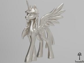 Twilight Sparkle MLP (Au, Ag, Pt, Bronze, Brass) in Fine Detail Polished Silver