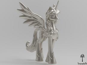Princess Luna MLP (Au, Ag, Pt, Bronze, Brass) in Fine Detail Polished Silver