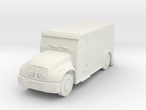 International Armored Truck 1/100 in White Natural Versatile Plastic