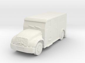International Armored Truck 1/144 in White Natural Versatile Plastic