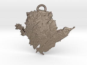 Anglesey Keyring  in Polished Bronzed-Silver Steel