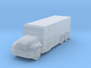 International Armored Truck 6x6 1/285 in Smooth Fine Detail Plastic