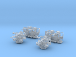 1/96 Scale 40mm Bofor Set in Smooth Fine Detail Plastic