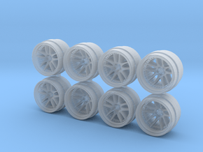 CR 3P 815-55 1/64 Scale Wheels in Smooth Fine Detail Plastic