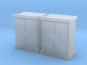 1:72 Relay Cabinets Low 2pc in Smooth Fine Detail Plastic