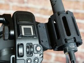 FX6 Rugged Mic Holder. Fit Sony ILME-FX6 Camcorder in Black Natural Versatile Plastic