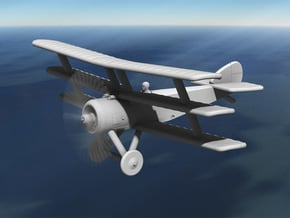 Sopwith Triplane (twin-gun, 1:144) in White Natural Versatile Plastic