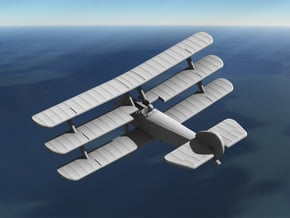 Sopwith Triplane (early, various scales) in White Natural Versatile Plastic: 1:144