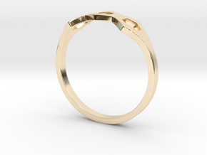 No.3 Bee Ring in 14k Gold Plated Brass: 5 / 49