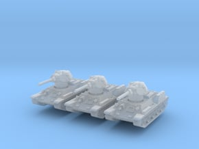 OT-34-76 fact. 183 1941 (x3) 1/285 in Smooth Fine Detail Plastic