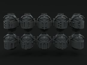 10-20x Knightly Visor Variety Pack Helmets in Smooth Fine Detail Plastic: Medium