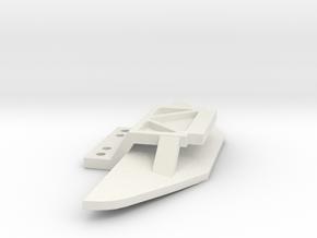 Jomu Karohalter für nicht Kyosho Chassis in White Natural Versatile Plastic