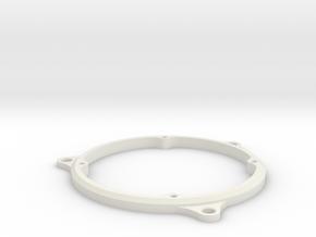 Car speaker mounts 4 screw to 3 screw in White Natural Versatile Plastic