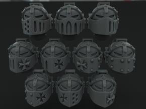 10-20x Templar Crusader Visor Variety Pack Helmets in Smooth Fine Detail Plastic: Medium