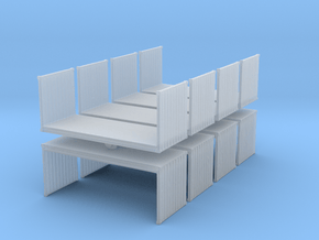 20ft Flatrack Container (x8) 1/400 in Smooth Fine Detail Plastic
