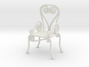 Garden Chair  No. 1 in White Natural Versatile Plastic