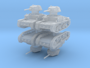 m15 42 Tank (4 pieces) 1/160 in Smooth Fine Detail Plastic