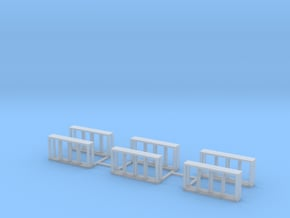 All Weather Window, 4 Pane HO scale X6 in Smooth Fine Detail Plastic