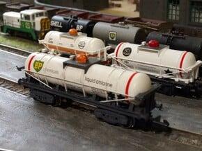 N Gauge 35T Bogie Chlorine Tanker in Smoothest Fine Detail Plastic