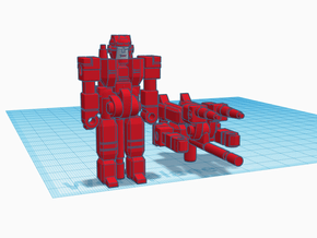 The Red Knight RoGunner in Red Processed Versatile Plastic: Large