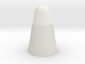 1/110 Scale Atlas D4 Warhead in White Natural Versatile Plastic
