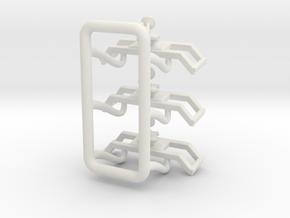 1/64 Set of 3 Monitors in White Natural Versatile Plastic